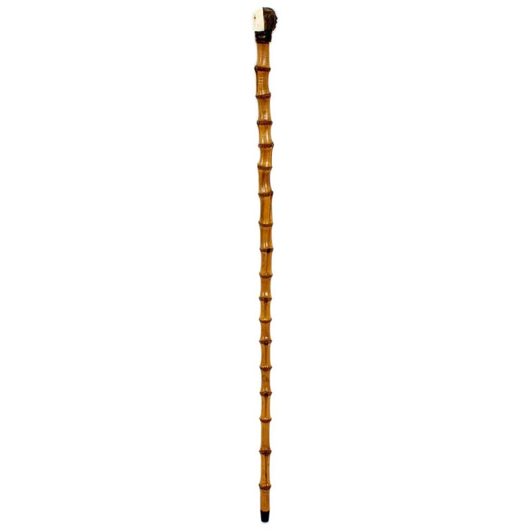 Double Faced Monkey Bamboo Walk Stick or Cane