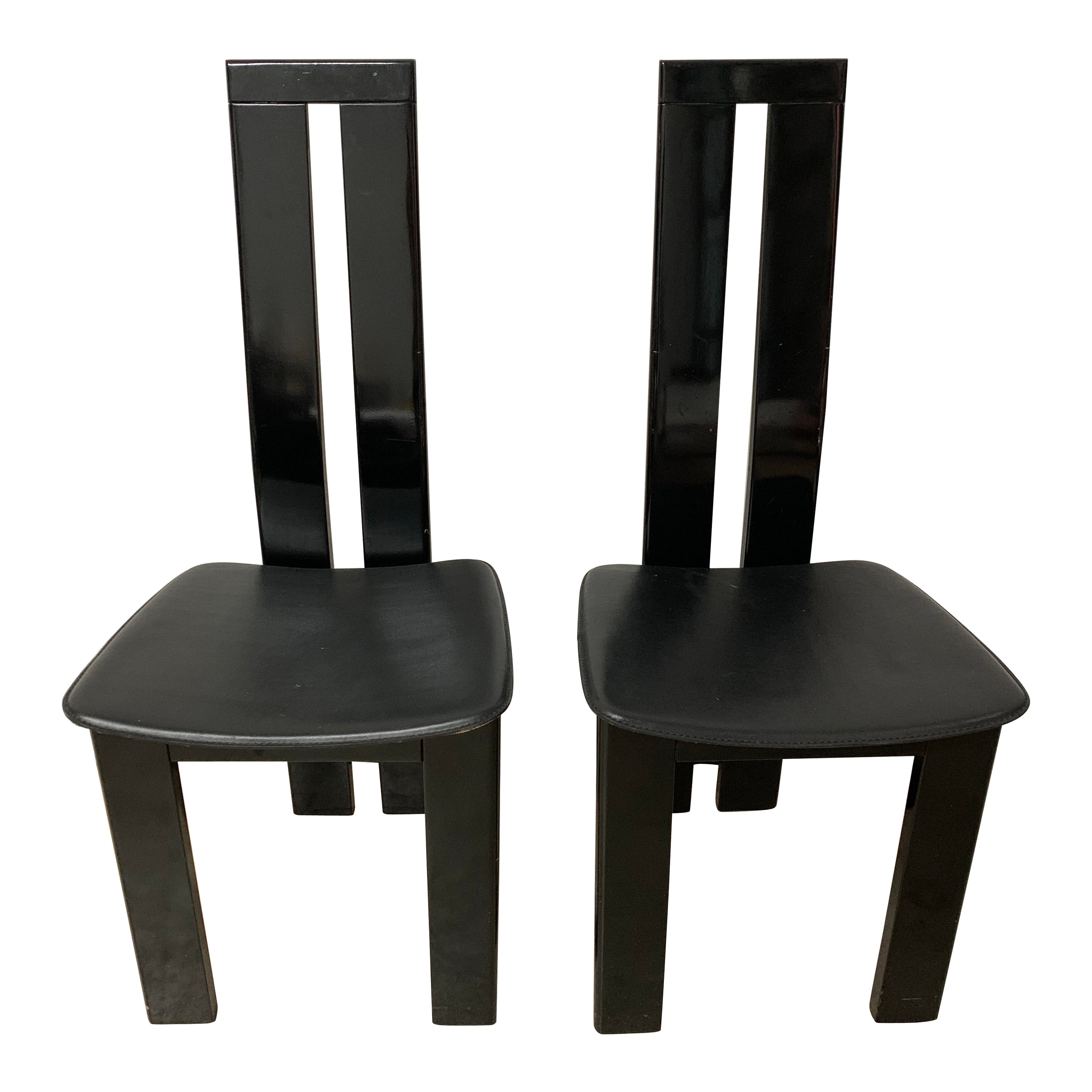 Pair of Italian Postmodern Chairs by Massimo Vignelli