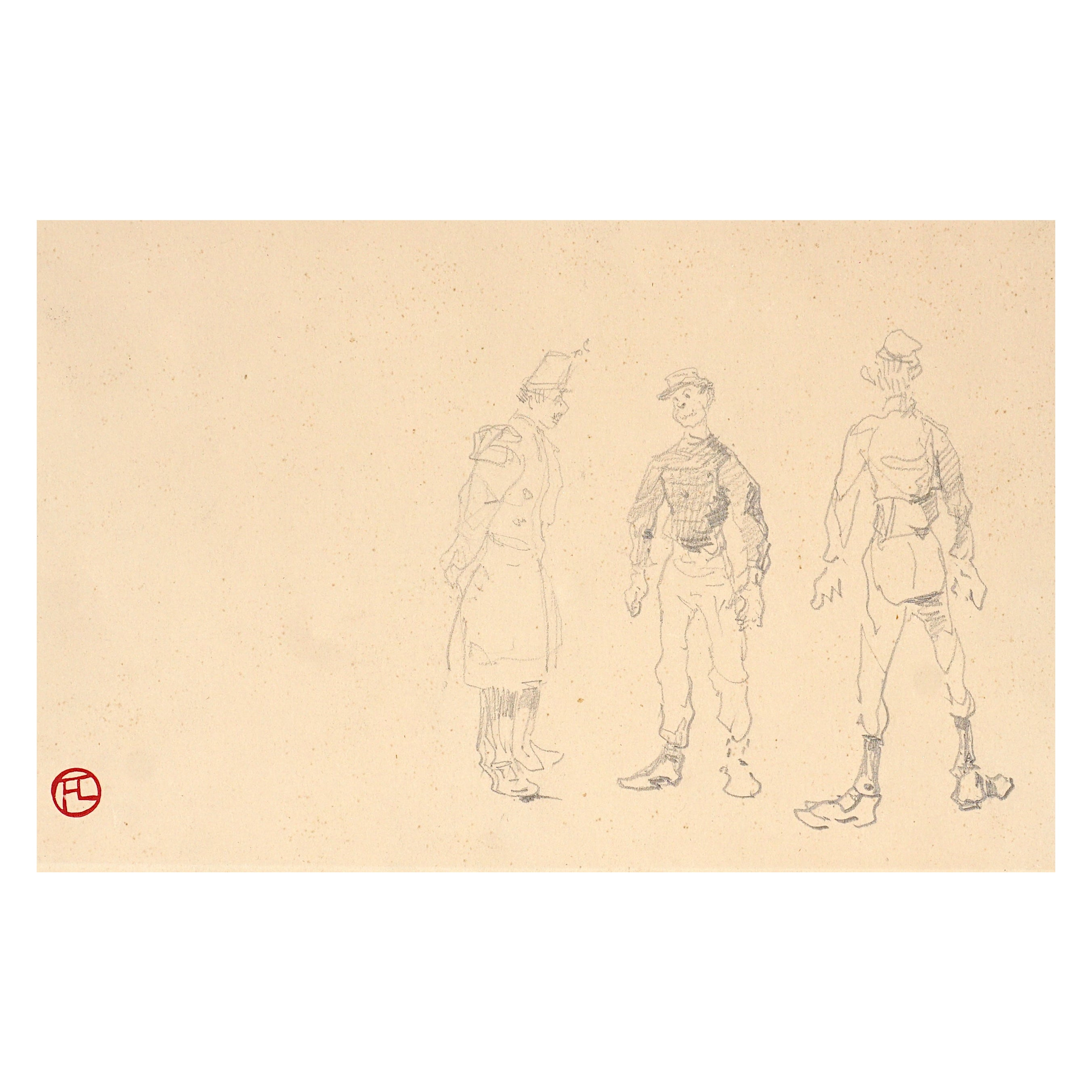 Henri De Toulouse Lautrec Pencil Drawings, Catalogued