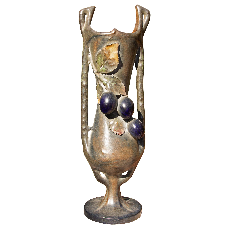 Austrian Art Nouveau Vase by Amphora