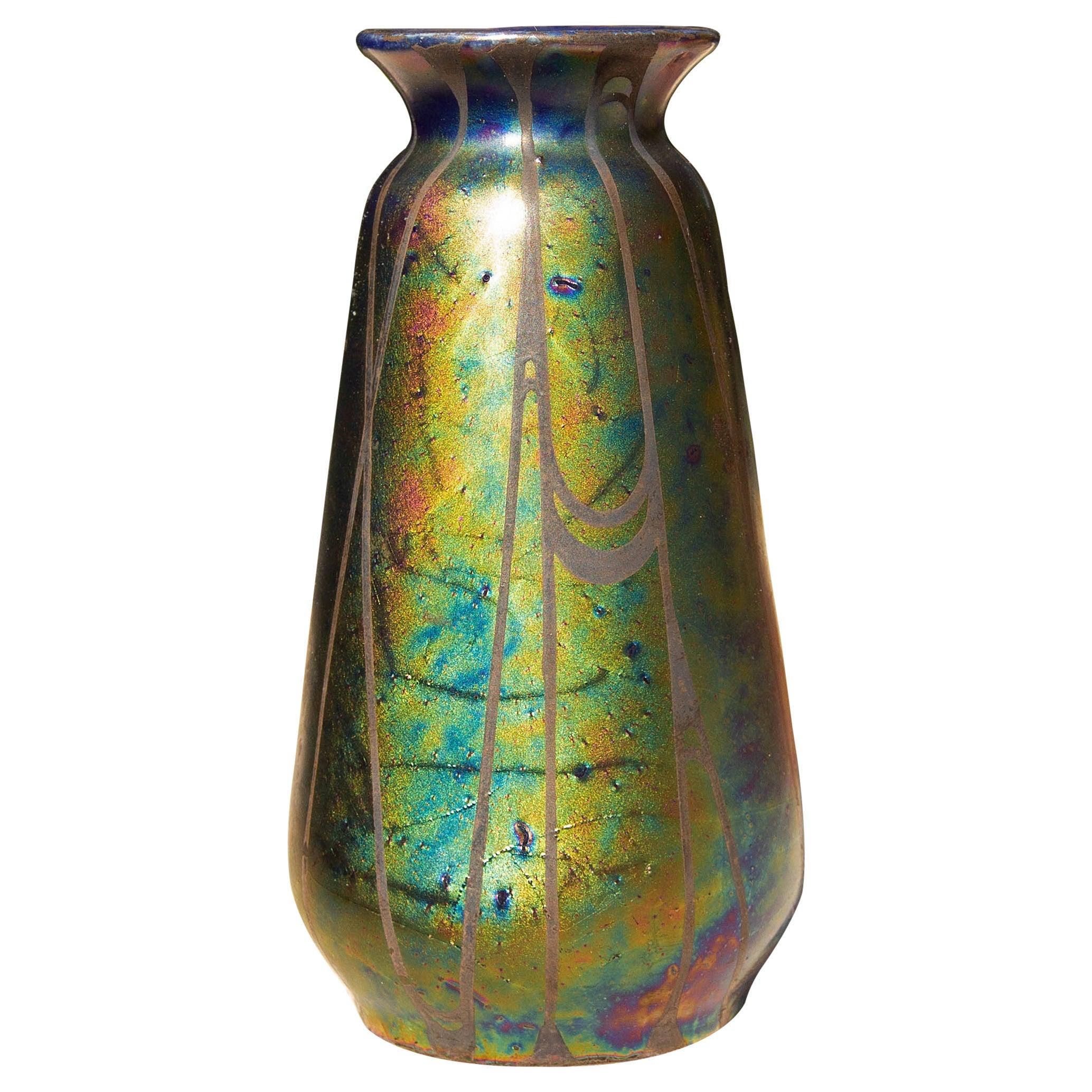 Austrian Iridescent Art Nouveau Vase