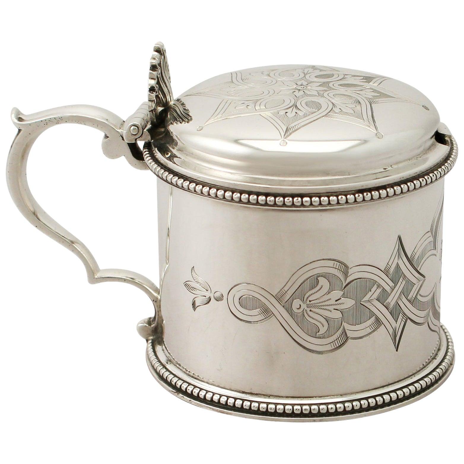 Antique Victorian 1858 Sterling Silver Mustard Pot by Edward & John Barnard