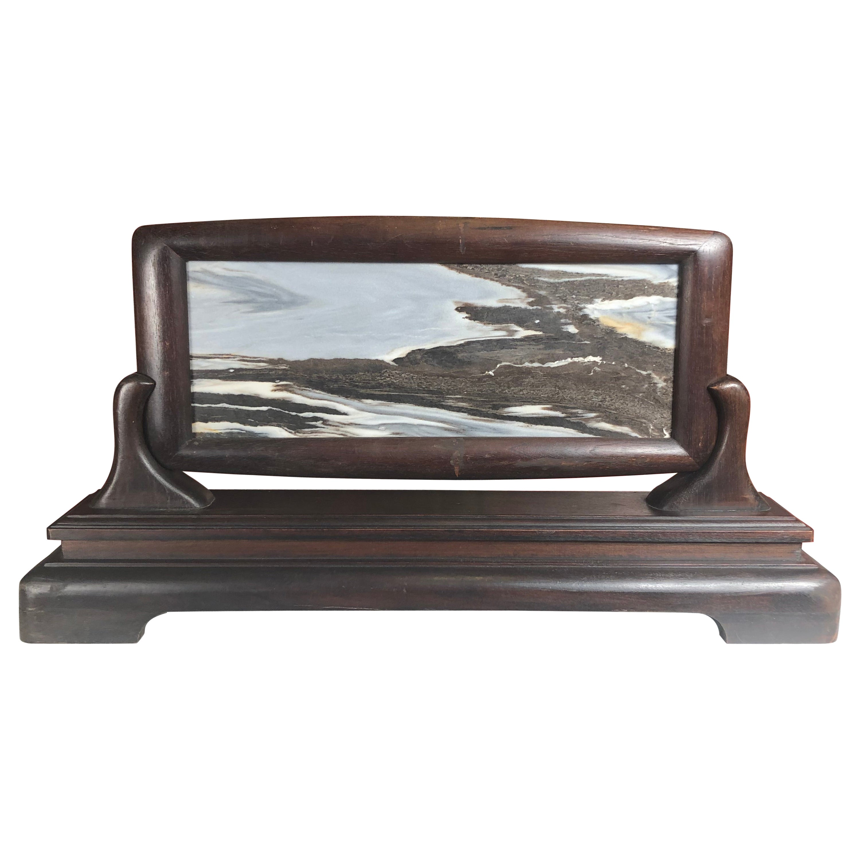 """China Beautiful Natural """"Mountain Waters Painting"""" with Handsome Custom Frame"""