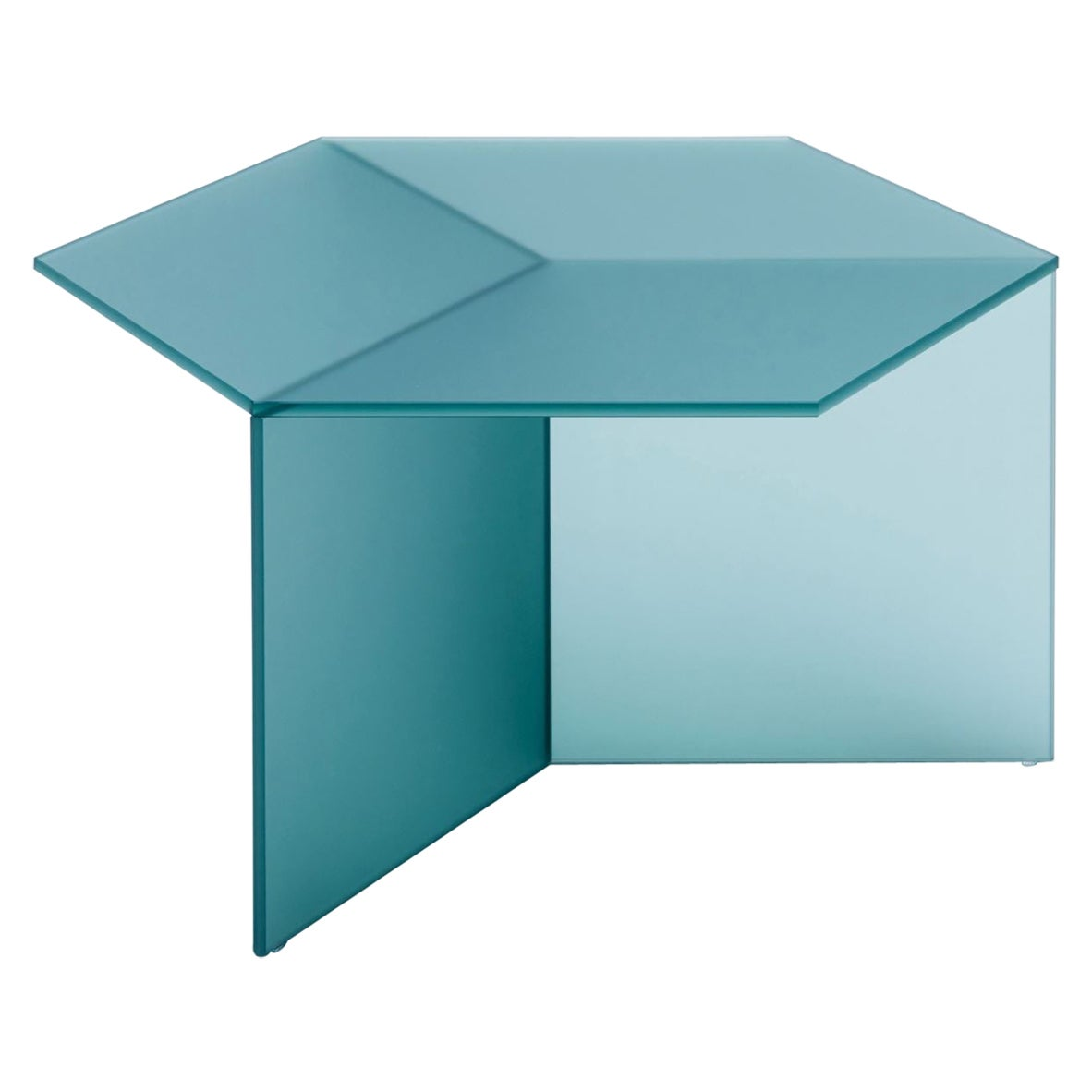 "Satin Glass ""Isom Square"" Coffee Table, Sebastian Scherer"