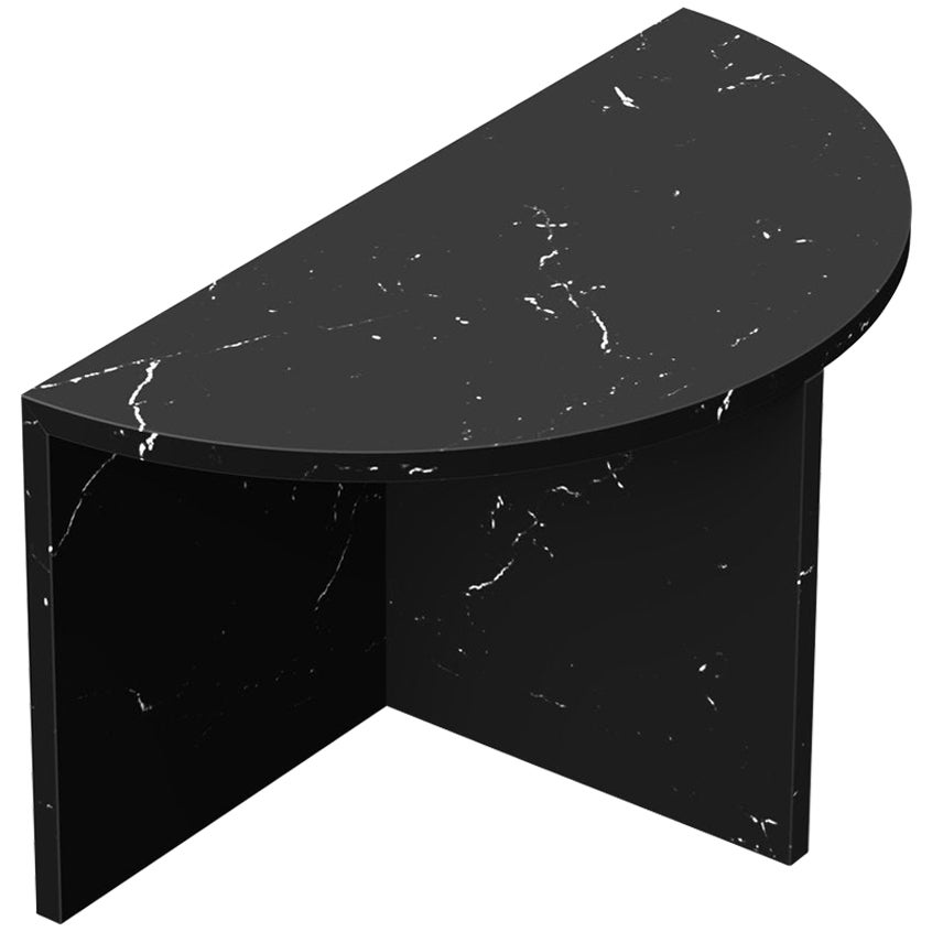 """Marquina Marble """"Fifty Circle"""" Coffee Table, Sebastian Scherer"""