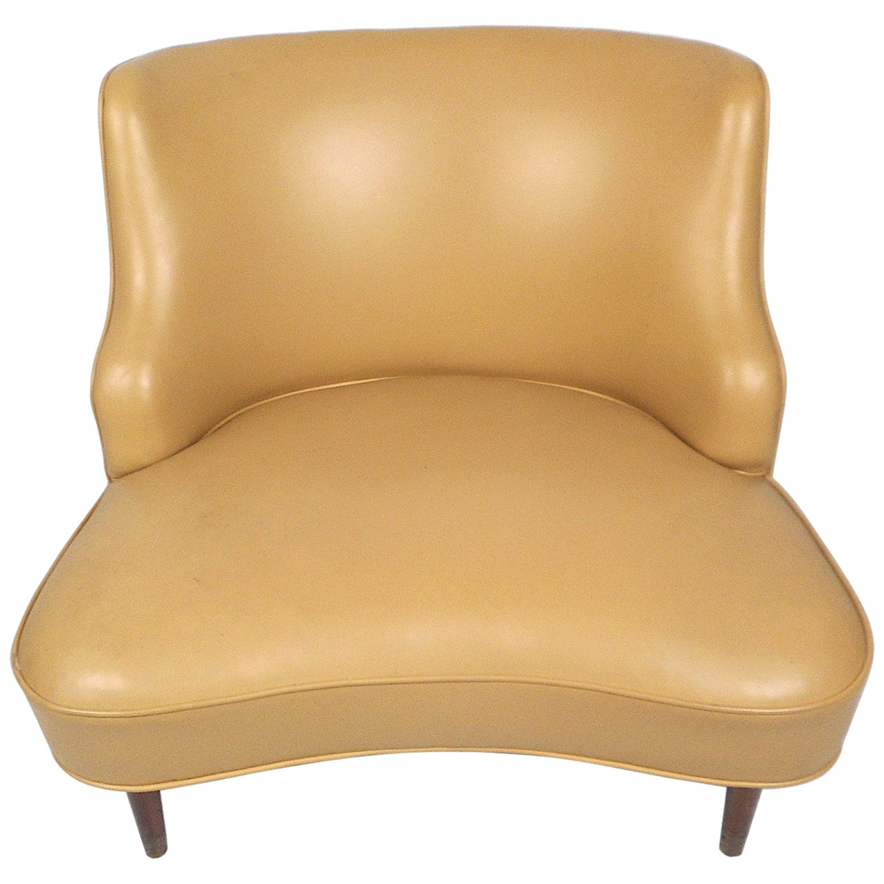 Mid-Century Modern Vinyl Lounge Chair