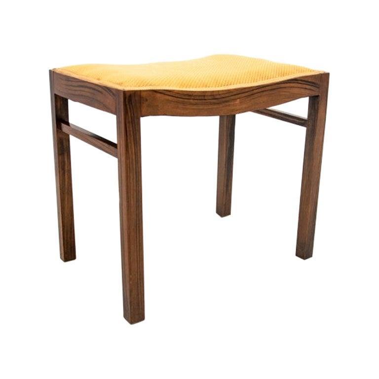 Rosewood Footstool Danish Design, 1960s