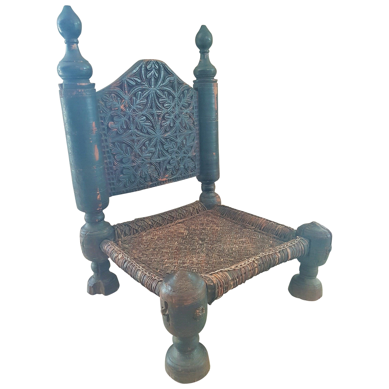 Primitive Rustic Minimal Chair Stool, Asia, 19th Century