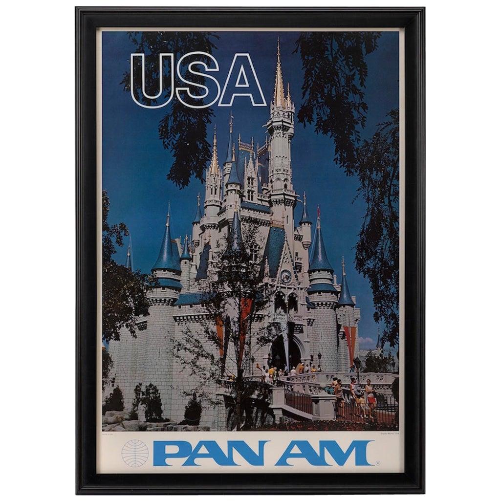 Walt Disney World, Pan Am Vintage Travel Poster, circa 1970s