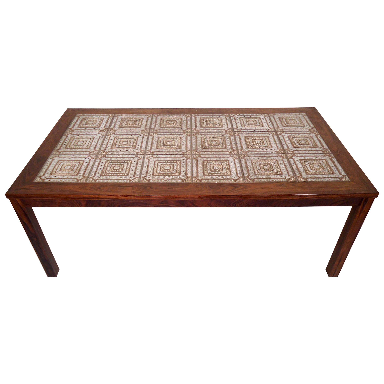 Mid-Century Modern Tile Top Coffee Table
