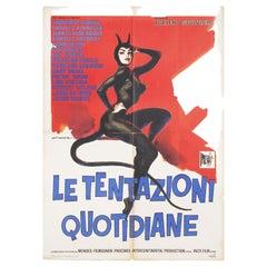 The Devil and the Ten Commandments 1962 Italian Due Fogli Film Poster
