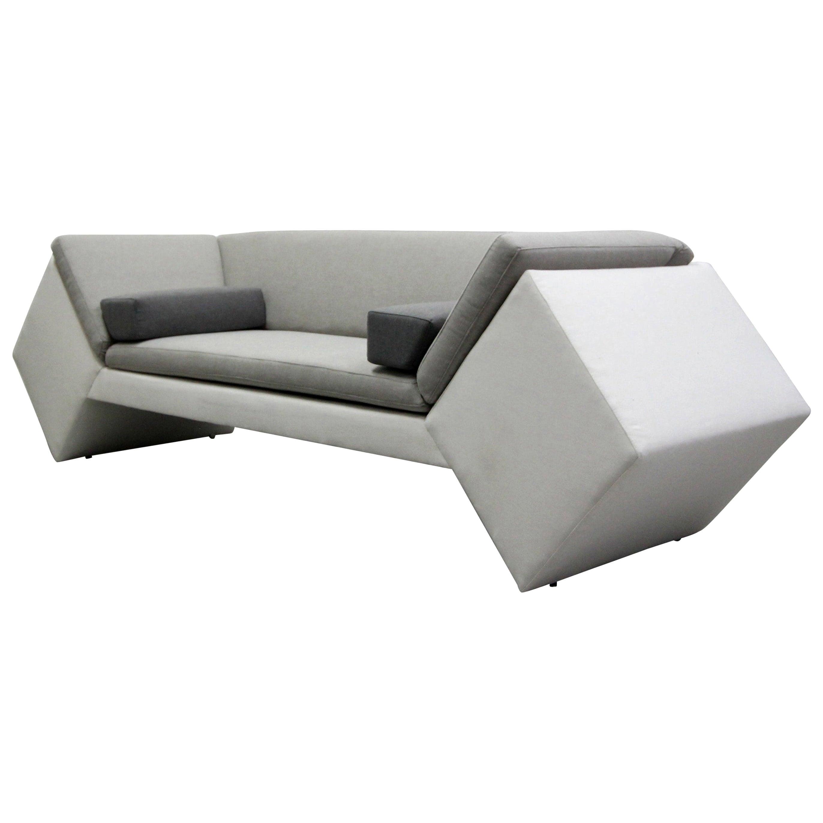 Postmodern Geometric Sofa by Thayer Coggin