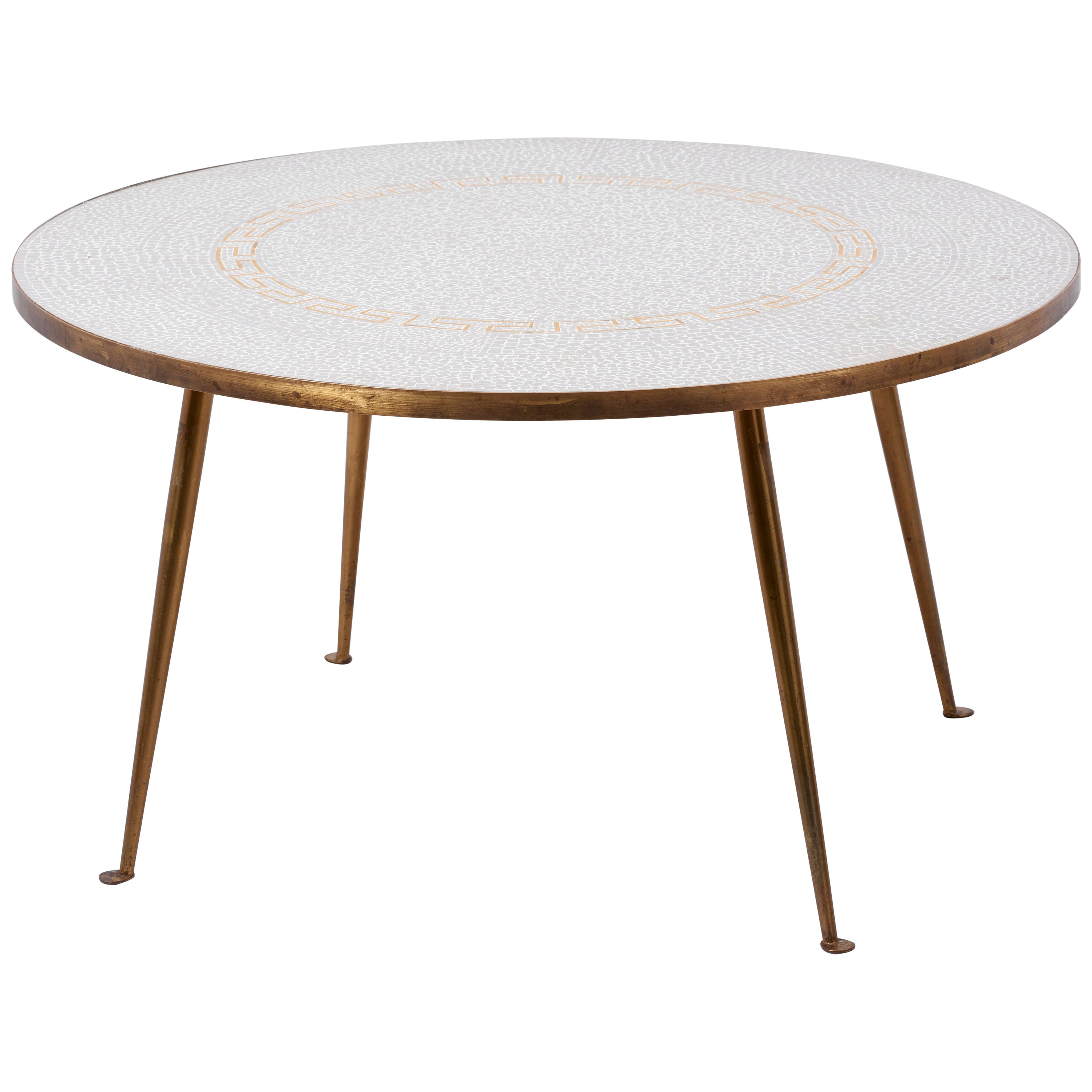 Round Mosaic Coffee Table by Berthold Müller-oerlinghausen, Germany