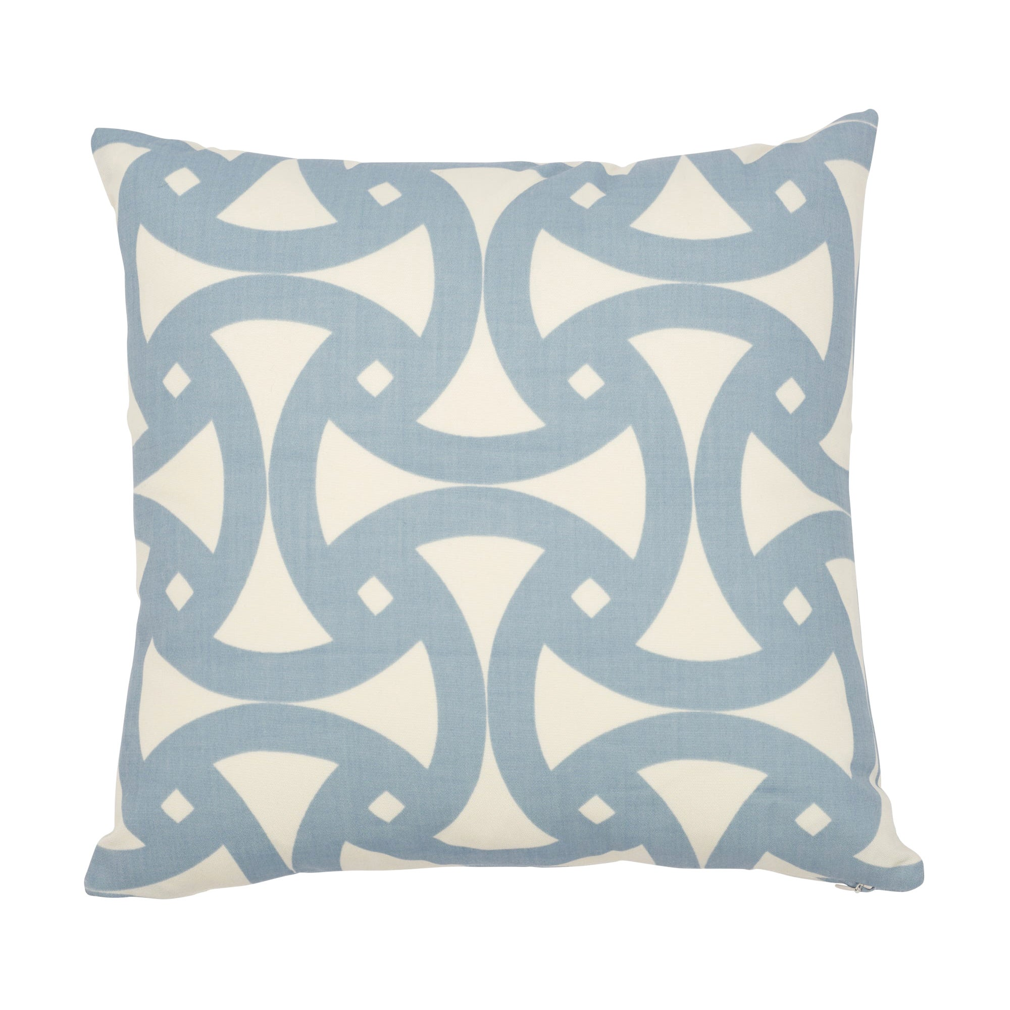 Schumacher Santorini Indoor/Outdoor Sky Two-Sided Pillow