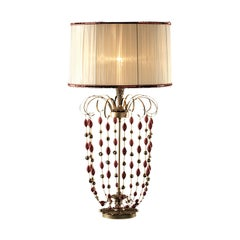 Red Venetian Glass Table Lamp