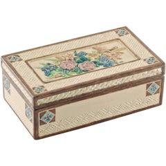 Signed Sara Sax Rookwood Pottery Lidded Rectangular Box