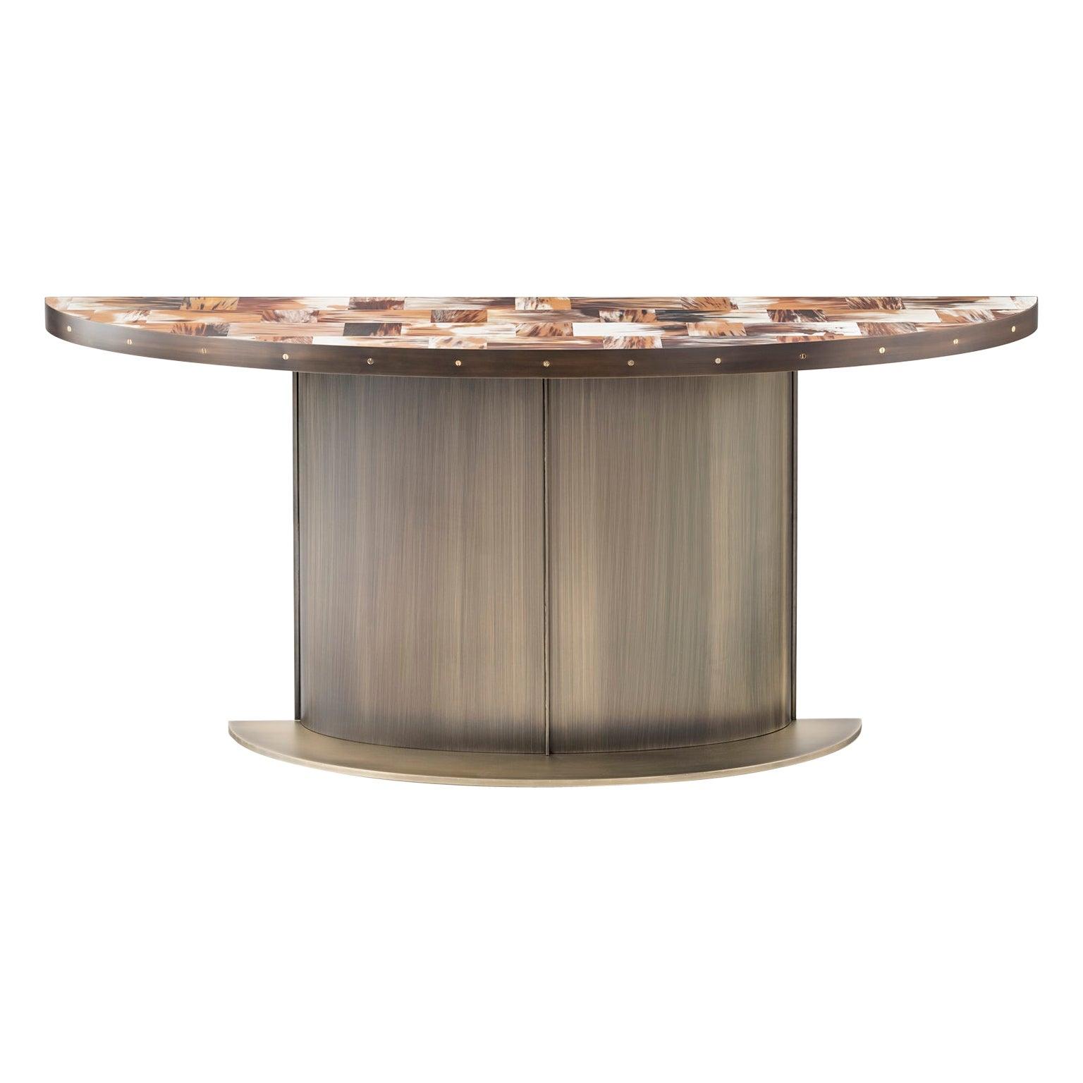Nettuno Console Table with Top in Corno Italiano with matte finish, Mod. 6016