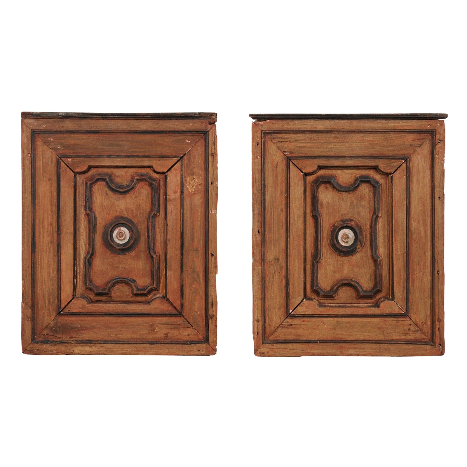 Pair of Italian Decorative Wall Panels from Turn of 18th-19th Century