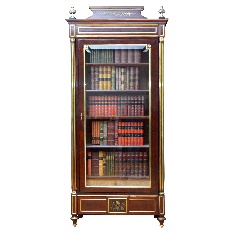 19th Century French Mahogany Bookcase