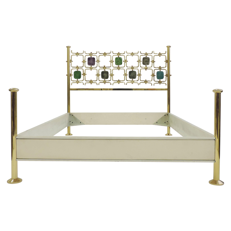 Osvaldo Borsani and Arnaldo Pomodoro Double Bed Model No. 8604, Italy, 1962
