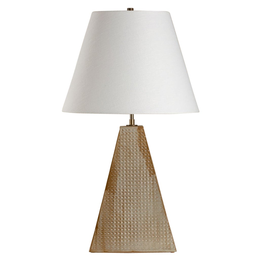 Litchfield Lamp, Ceramic Sculptural Table Lamp by Dumais Made