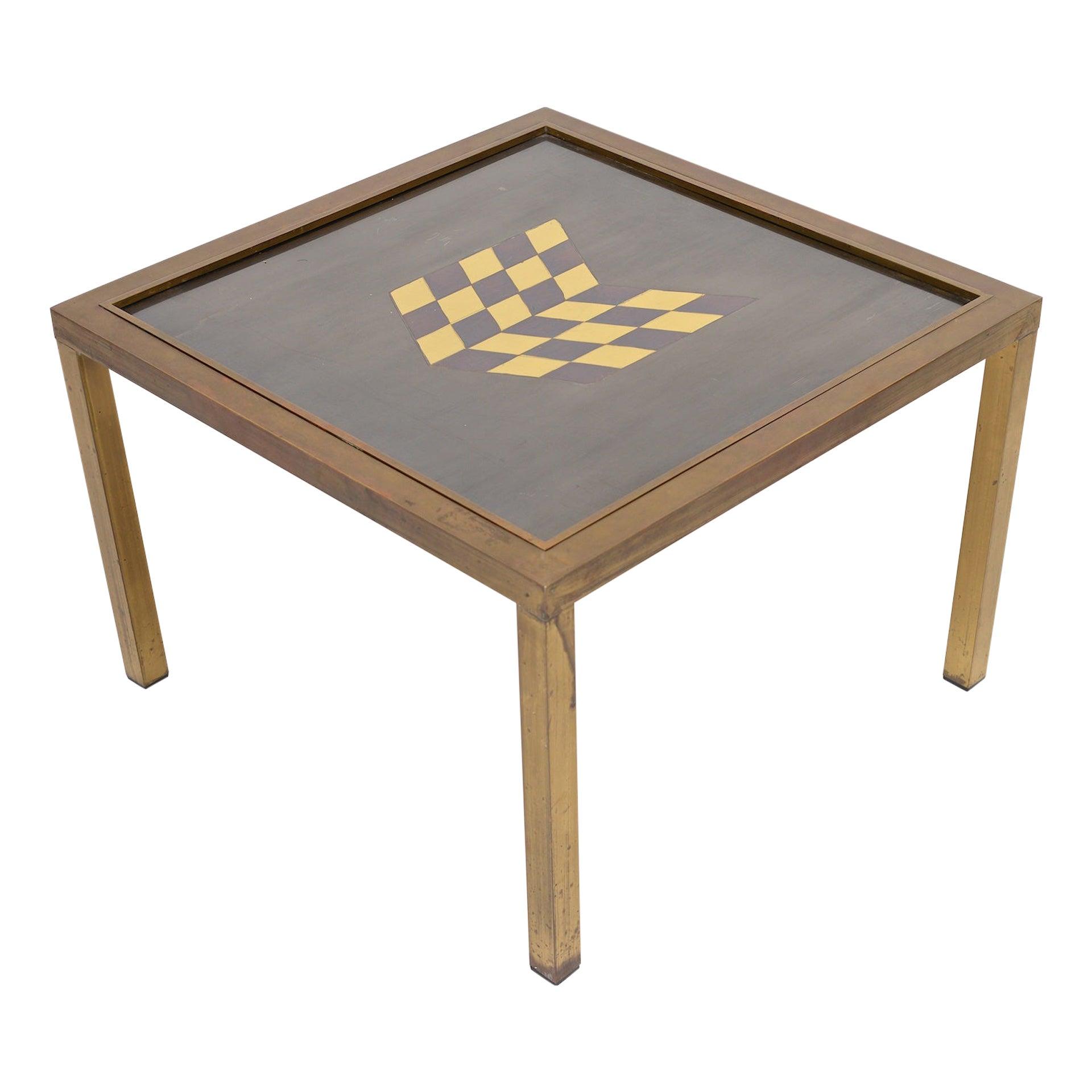 Brass Side Table, circa 1970