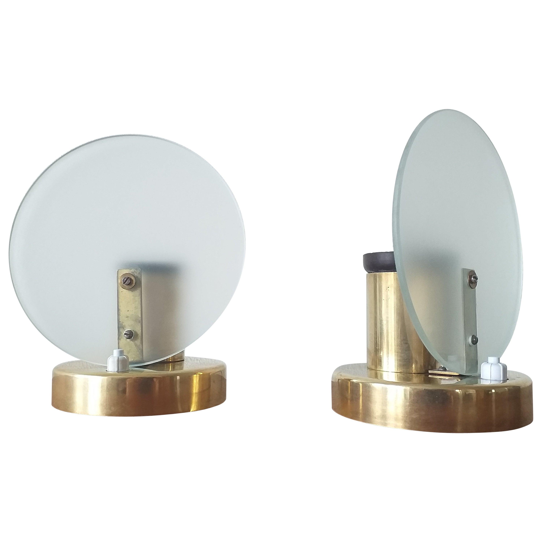 Pair of Art Deco Table Lamps, Functionalism, 1930s