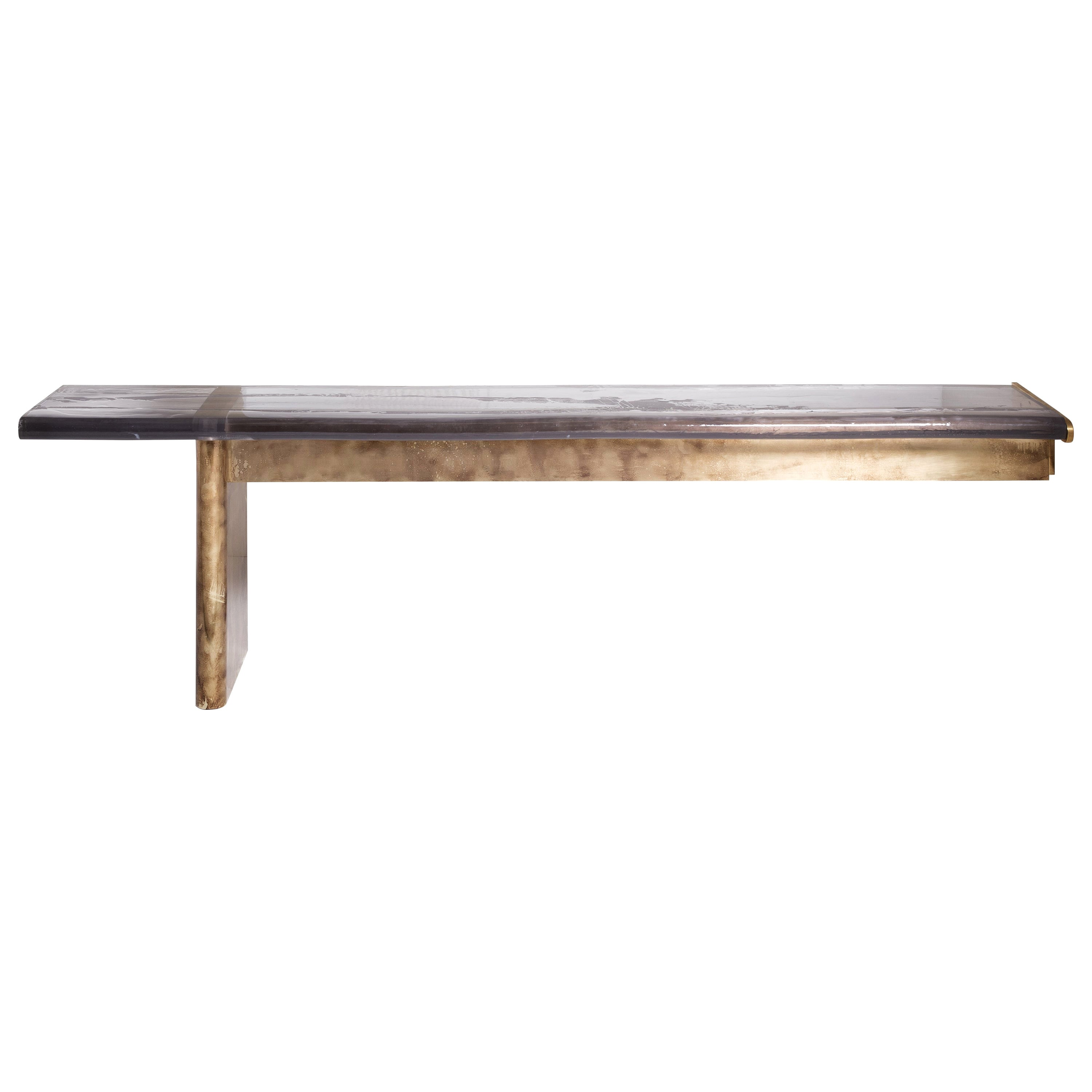 Maree Console by Draga&Aurel Resin and Bronze, 21st Century