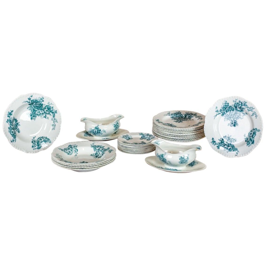 20th Century Johnson Brothers Anemone Porcelain Set