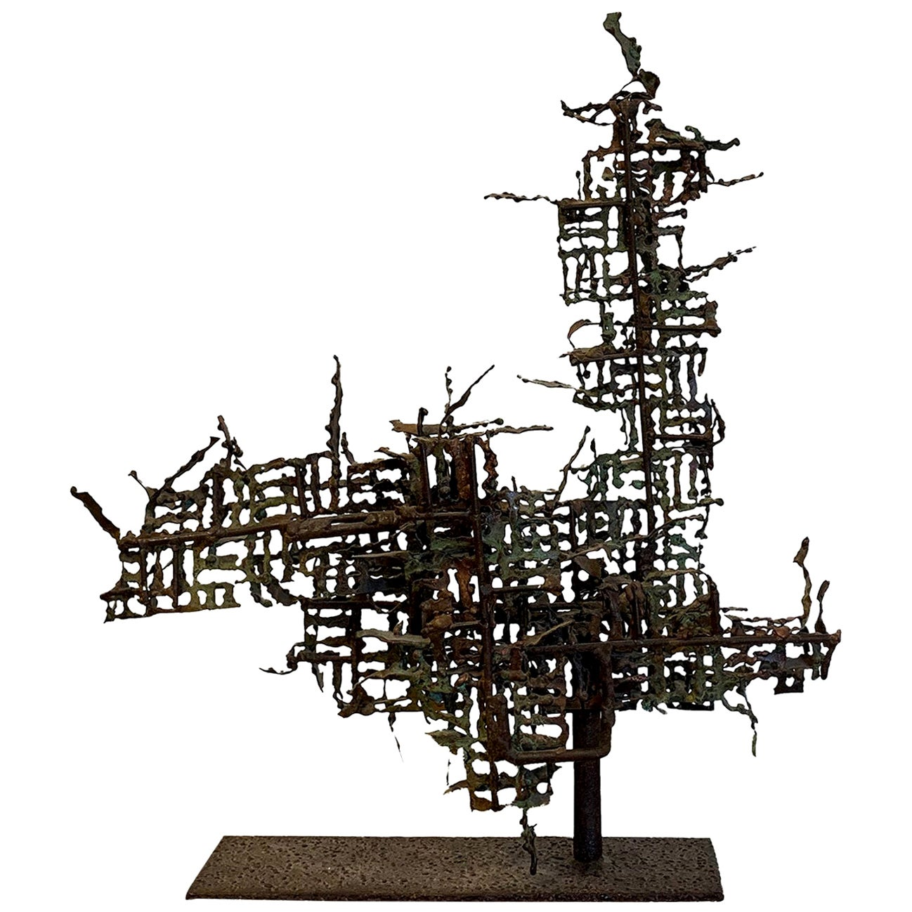 20th Century Italian Abstract Metal Sculpture by Marcello Fantoni