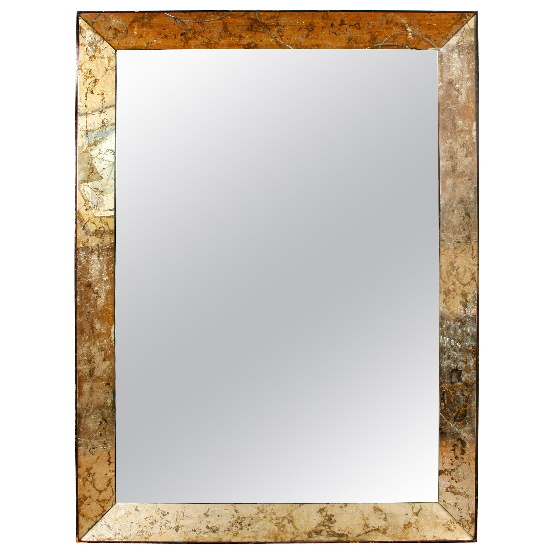 Deco Églomisé Mirror, circa 1940