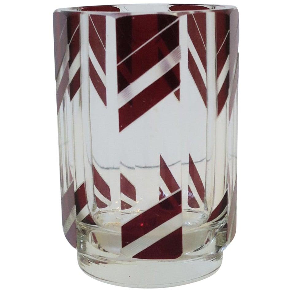 Designer European Art Deco Crystal Drinking Glass by Karl Palda