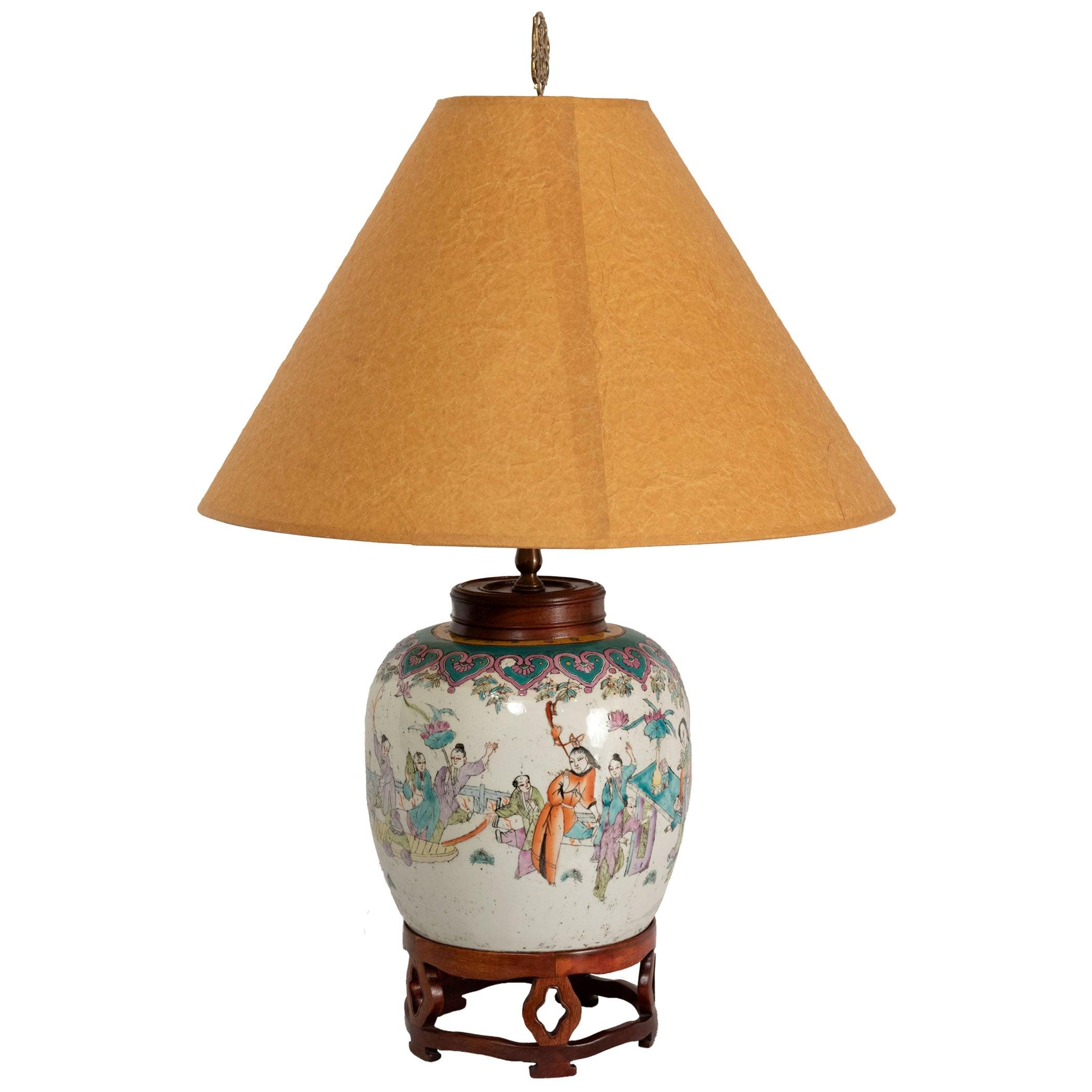 Lamped 19th Century Qing Vase