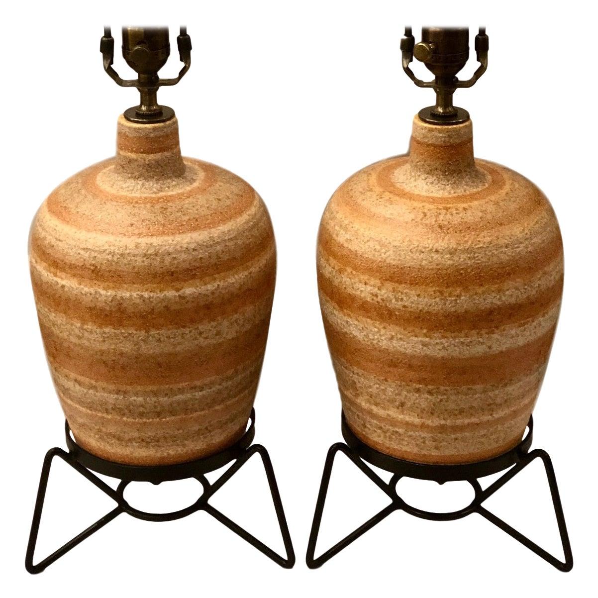 Pair of Italian Midcentury Table Lamps