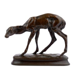 """""""Fawn"""" Bronze Sculpture by Alexander Phimister Proctor, cast by Gorham Co."""