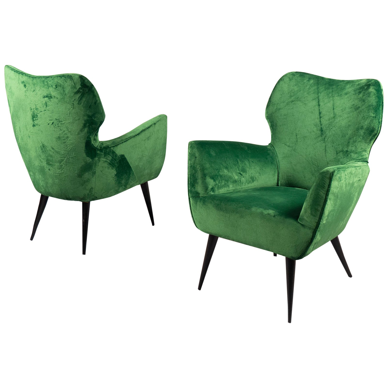 Pair of Armchairs, Italy, 1960s