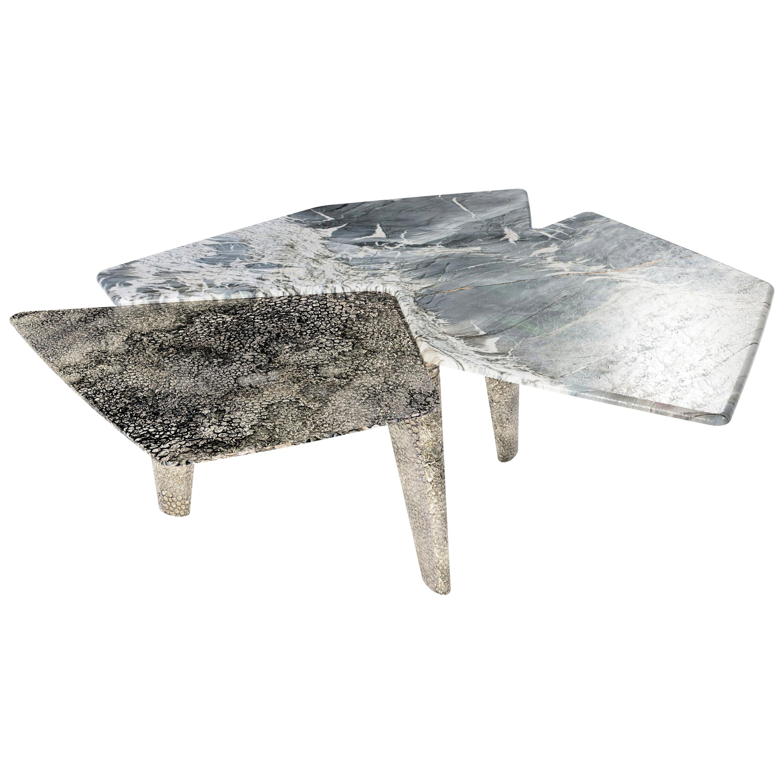 """Elements VI"" Contemporary Center Table ft. Quartzite & Nickel by Grzegorz Majka"