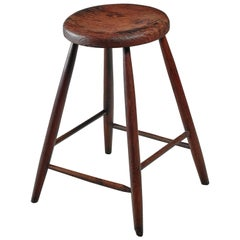 Unique Studio Crafted Bar Stool, American, Turn of the Century