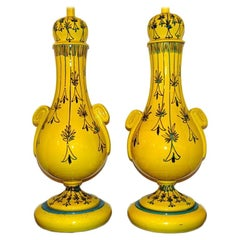 Yellow Porcelain Table Lamps