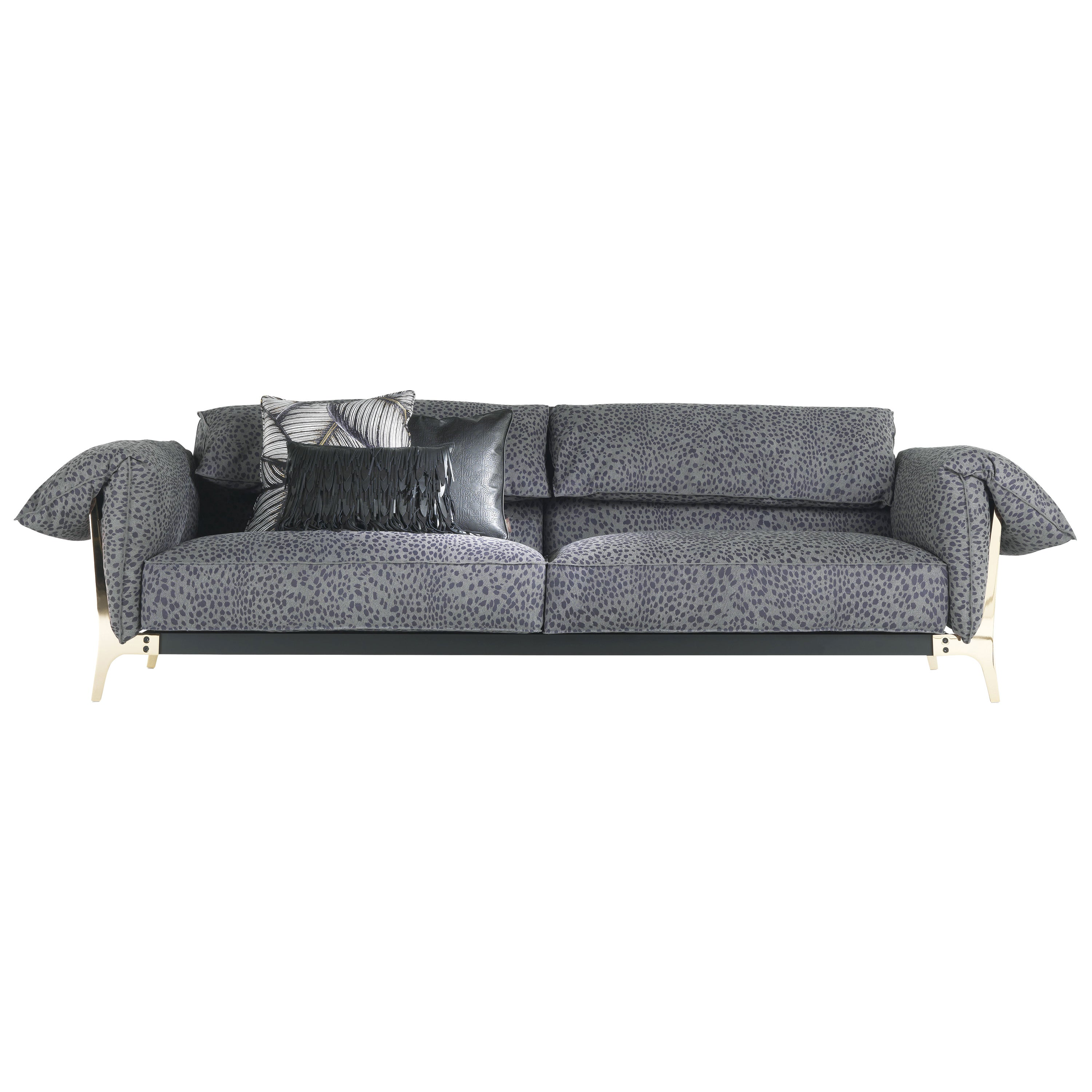 Montego 3-Seater Sofa in Leather by Roberto Cavalli Home Interiors