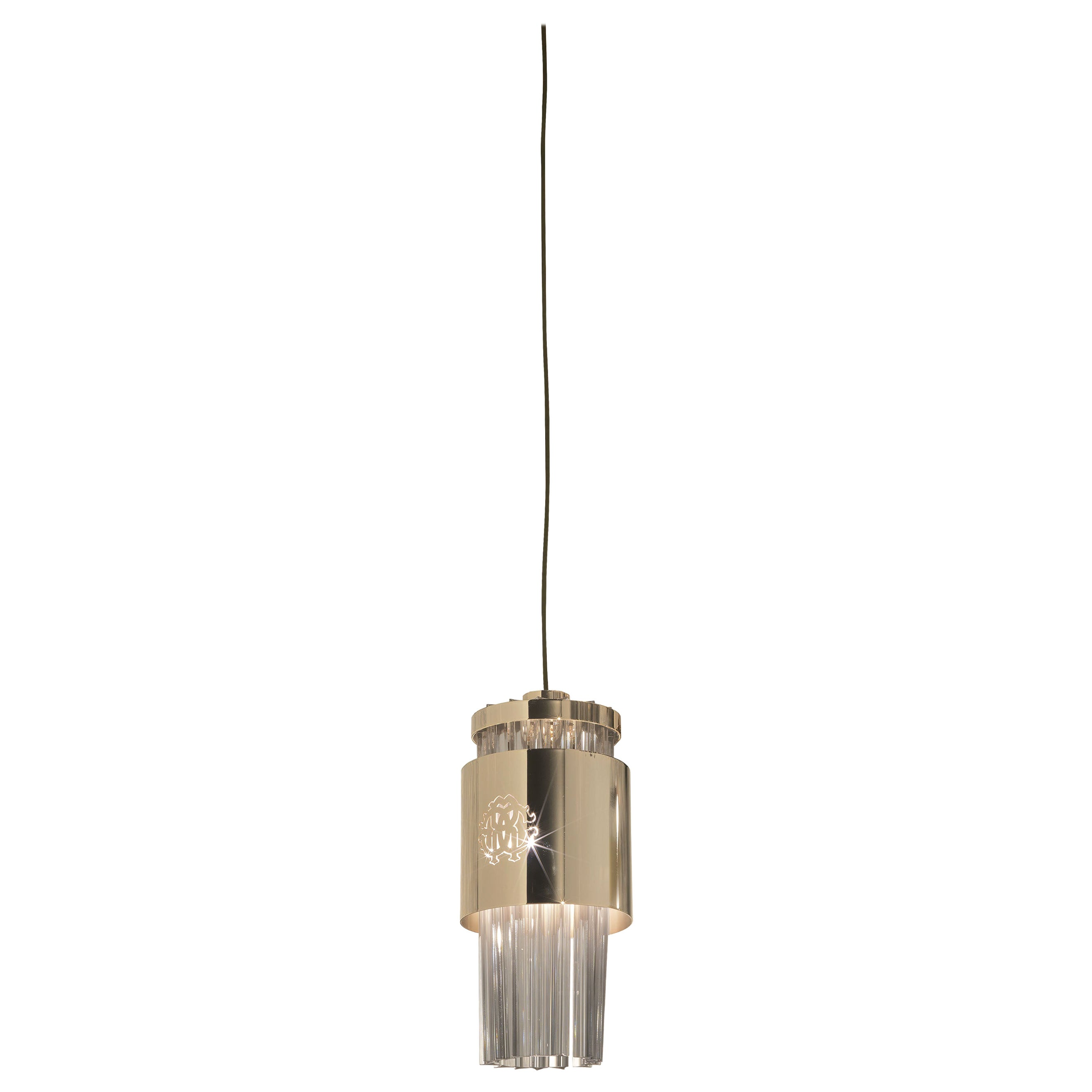 Lipari Chandelier in Metal and Glass by Roberto Cavalli Home Interiors
