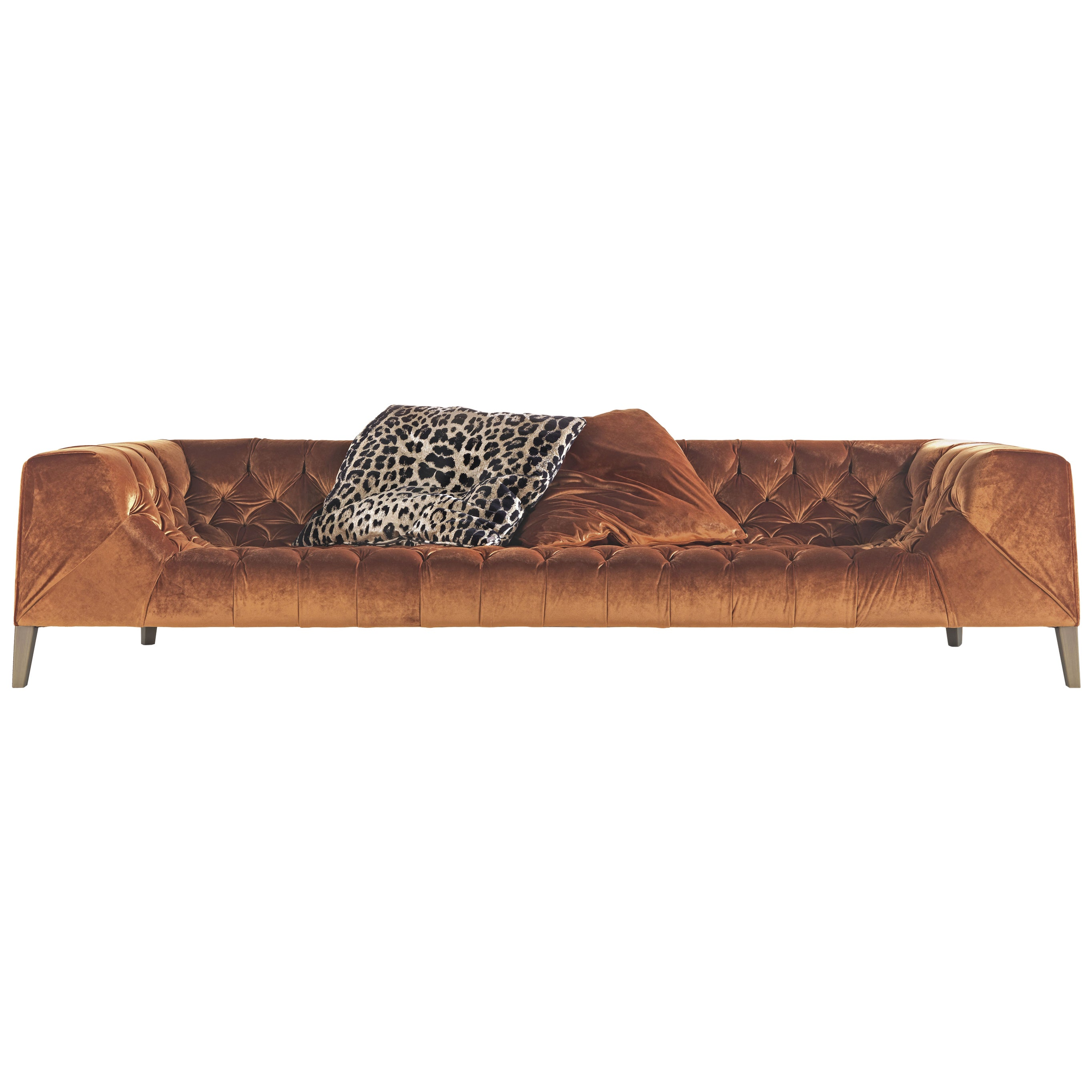 Blake 4-Seater Sofa in Fabric by Roberto Cavalli Home Interiors