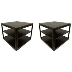 Pair of Dunbar Midcentury Square End Tables
