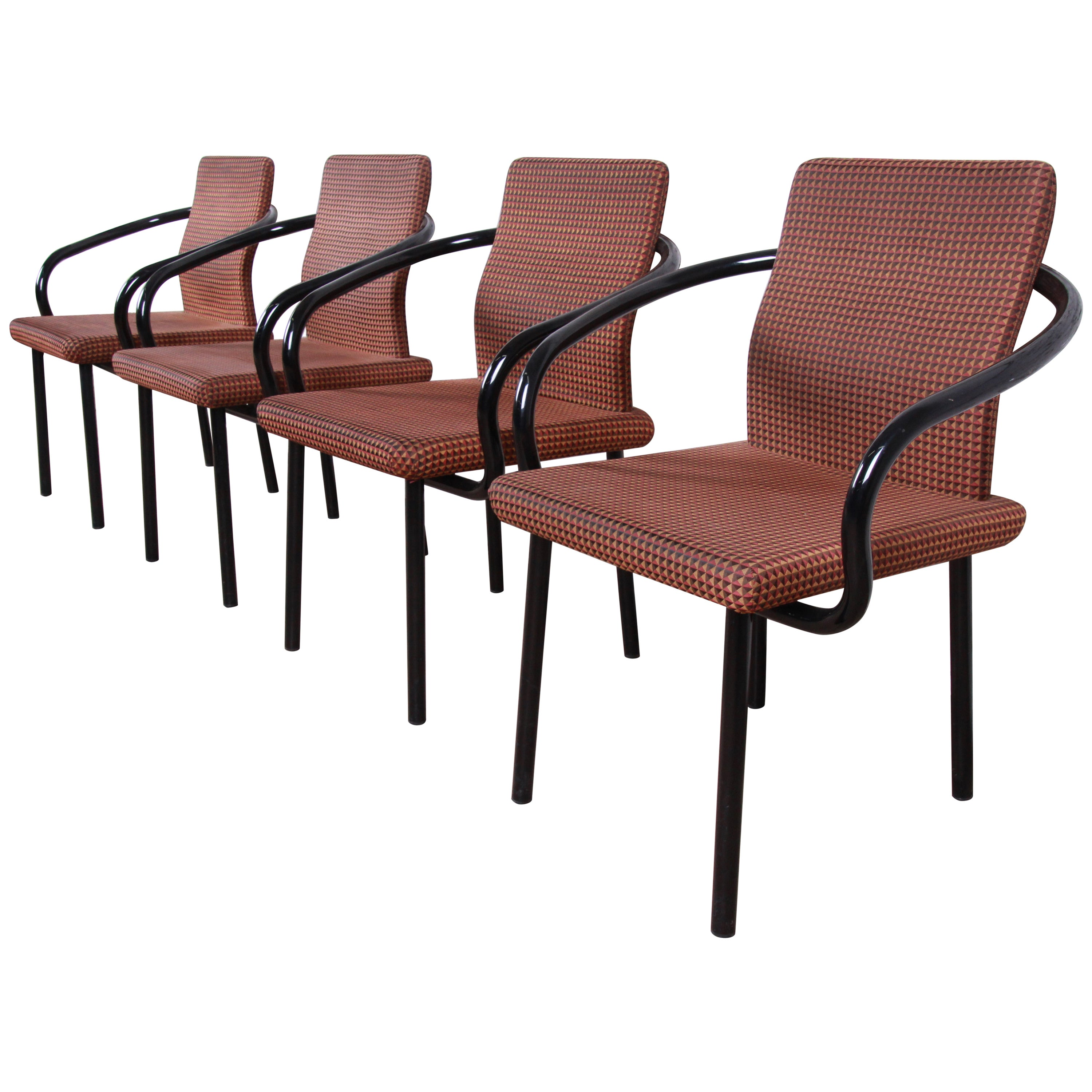 Ettore Sottsass for Knoll Mandarin Armchairs, Set of Four