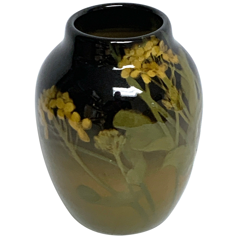 Rookwood Iris Glaze Floral Motif Vase, by Grace Young, 1901
