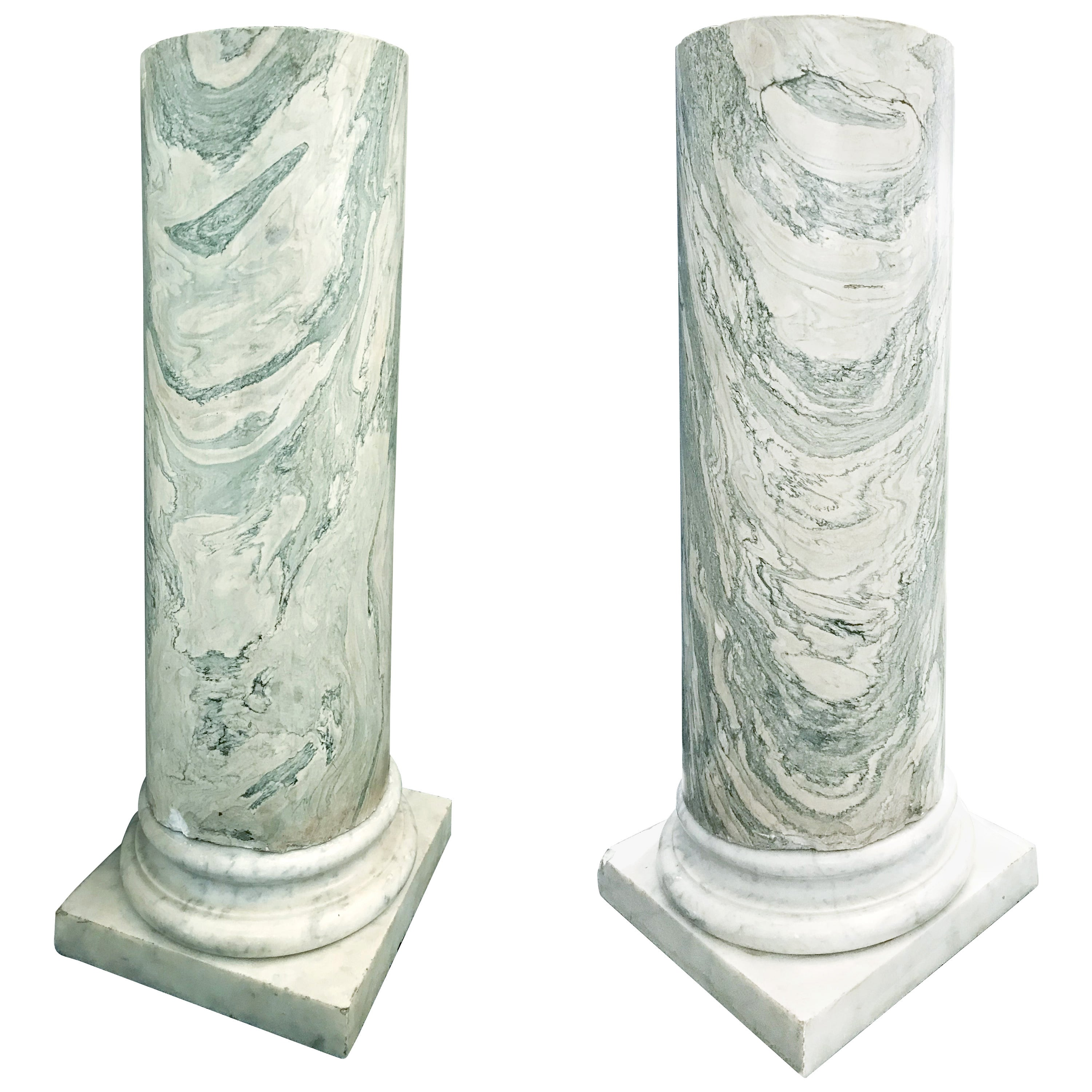 Pair of Marble Columns, Italy, Late 19th Century
