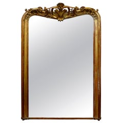 19th Century French Louis XV Style Giltwood Mirror