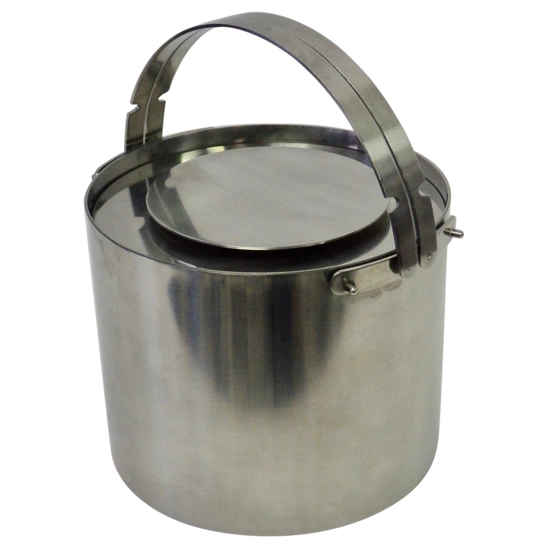 Arne Jacobsen Cylinda Series Stainless Steel Ice Bucket for Lauffer Stelton