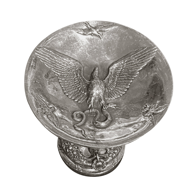 19th Century Fratin Bronze Bear Cup Signed Fratin with Daubrée Print