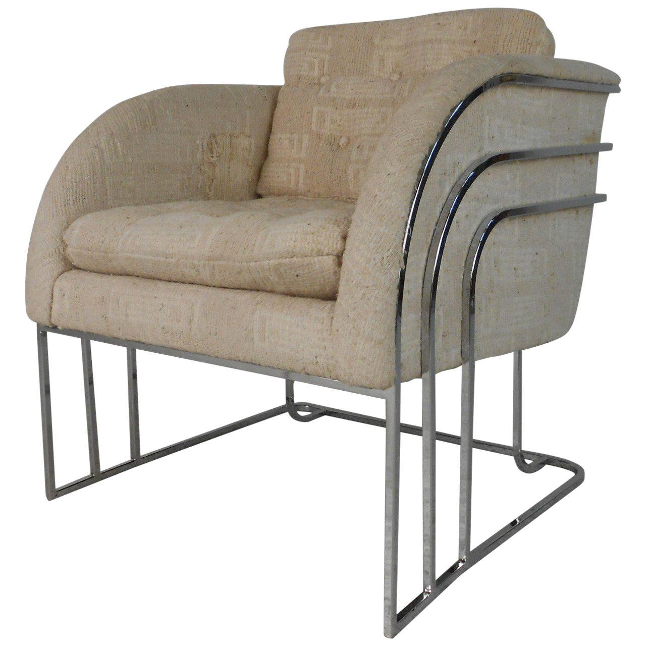 George Mergenov for Weiman/Warren Lloyd Chrome Lounge Chair